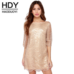 Hdy haoduoyi golden wave sequin lace dress women backless bla sheer shift dresses cut out sequin.jpg 250x250
