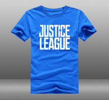 Justice League Glowing Logo Cotton O-Neck Short Sleeves Men's T-shirt