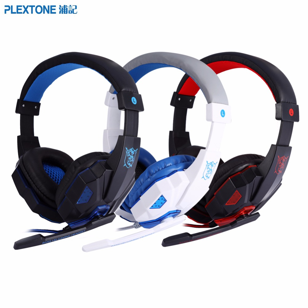 PLEXTONE PC780 Stereo Gaming Headphone Headband With Mic Wired Headsets & LED Light Noise Cancelling Headphone Over-ear Headset  plextone pc780 led light gaming headphone usb game headset pc headphone with mic for computer subwoofer stereo wired earphone