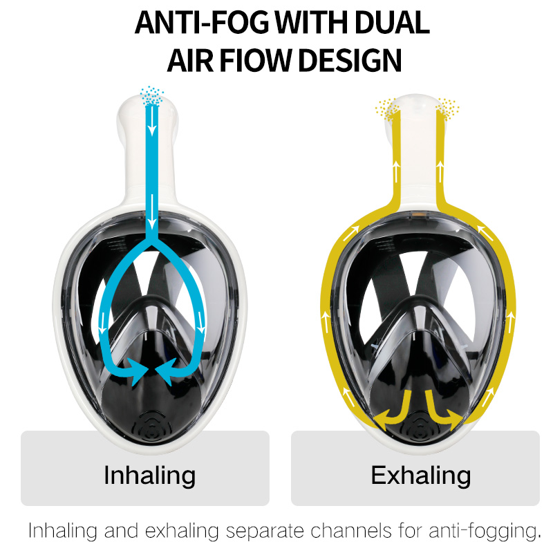 Full Face Snorkel Diving Mask - Anti Fog with Camera Mount  2
