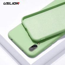 USLION Candy Solid Color Silicone Phone Case For Huawei P30 Pro P20 Mate 20 10 9 Honor V20 V10 V9 9 8X Nova 4 Y9 2019 Soft Cover(China)