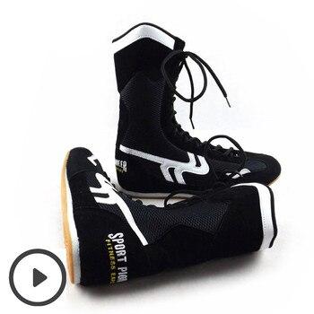 أحذية مصارعة الرجال Profissional أحذية مصارعة النساء المطاط تسولي تنفس القتالية أحذية