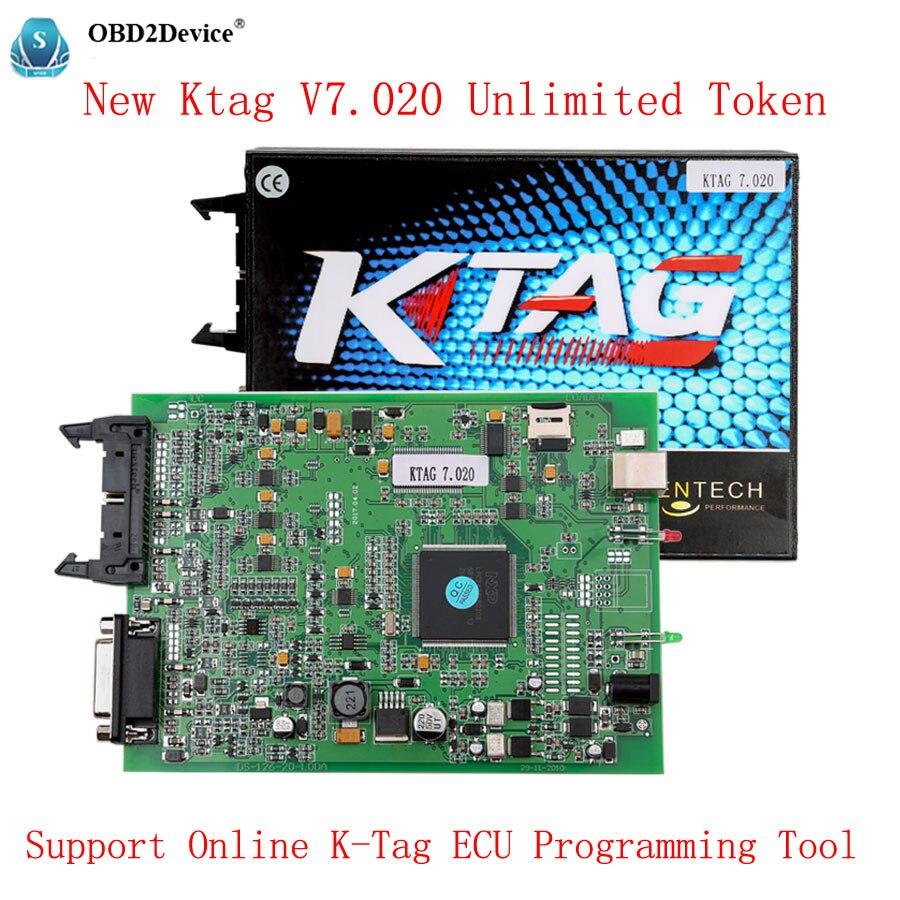 New Ktag V7.020 Unlimited Token V2.23 K-Tag 7.020 Support Online K-Tag ECU Programming  Get Free Gift Elm327 k tag ktag v7 020 k tag v2 23 ktag v6 070 ecu chip tuning tool ktag 7 020 obd2 ecu programmer unlock limit master version