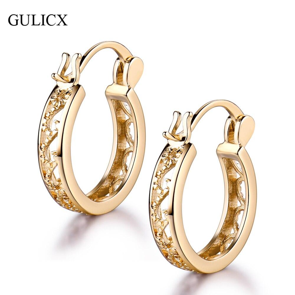 GULICX 2017 Fashion Small Round Basket Earings for Women Yellow ...