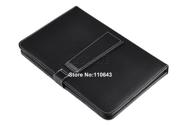 2Pcs/Lot USB Keyboard & Leather Cover Case for 10'' Tablet PC MID Free Shipping 1505