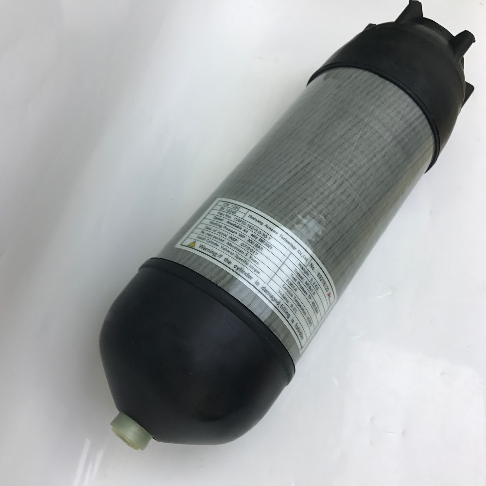 CE 4500psi 9L PCP airsoft tank breathing compressed air carbon fiber scuba diving cylinder with cover boots