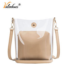Women Summer Bags Transparent Composite Bags Ladies Crossbody Bags Women Luxury Handbags Designer Messenger Shoulder Candy Bags(China)