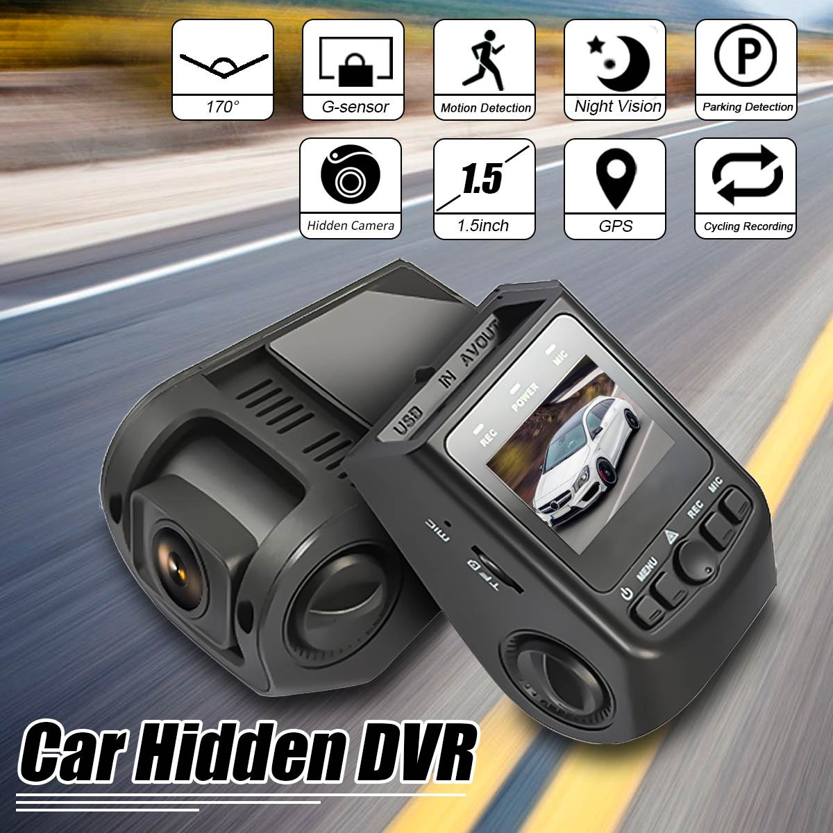 1080P HD 5inch Mini Car Hidden Dash Spy- Camera DVR G-sensor 170 Degree Wide Angle Lens Support GPS DV-9 TFT G-Sensor hidden install wifi car dvr for bmw car low spec e90 e91 e87 e84 hd 1080p 170 wide angle support g sensor motion detection