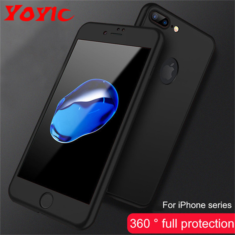 Image 2 - 360 Degree Full Cover Case For iPhone X 7 6s 5s 5Case Cover For Apple iphone X 7 6 Plus 8 8 Plus Capa Coque With Tempered Glass-in Fitted Cases from Cellphones & Telecommunications