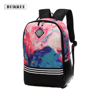 BURRUI Women Bag Colorful Printing school bags Travel Backpack Girls Canvas Bag College Large Capacity Shoulder Backpack