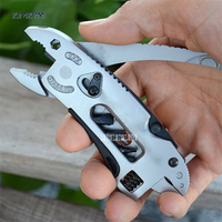 1pc Multi Function Pliers Pocket Knife Screwdriver Set Kit Adjustable Wrench Jaw Spanner Repair Survival Hand