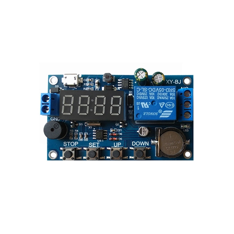 Real-time Relay Module Timing Switch Control Synchronization Delay Timer 12v timing delay relay module cycle timer digital led dual display 0 999 hours