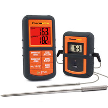 ThermoPro TP08 Wireless Remote Digital Kitchen Cooking Thermometer - Dual Probe for BBQ Smoker Grill Oven - Monitors Food / Meat(China)