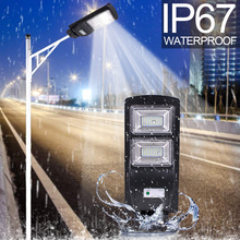 High Quality IP67 60W LED Solar Street Light Outdoor Waterproof Light Control Sensing Smart Led Light Garden Lamp