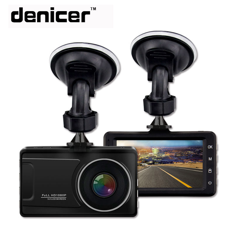 Denicer Dash Cam Full HD 1080P Car Vehicle Video Recorder Registrator Camera 170 Degree Wide Angle Auto DVR With Night Vision