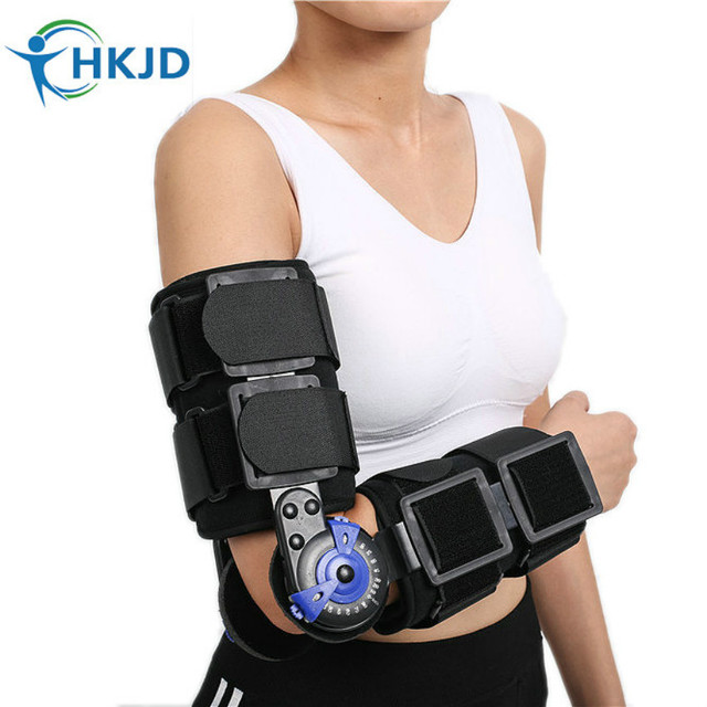f8944c19cd 100% New Adjustable Hinged Elbow Brace Medical Orthopedic Orthotics Supports  for forearm fracture, Soft