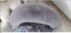 Image 3 - OFTBUY 2020 Winter Jacket Women Real Fur Coat Parka Real raccoon collar Rex Rabbit liner bomber Denim jacket Streetwear fashion
