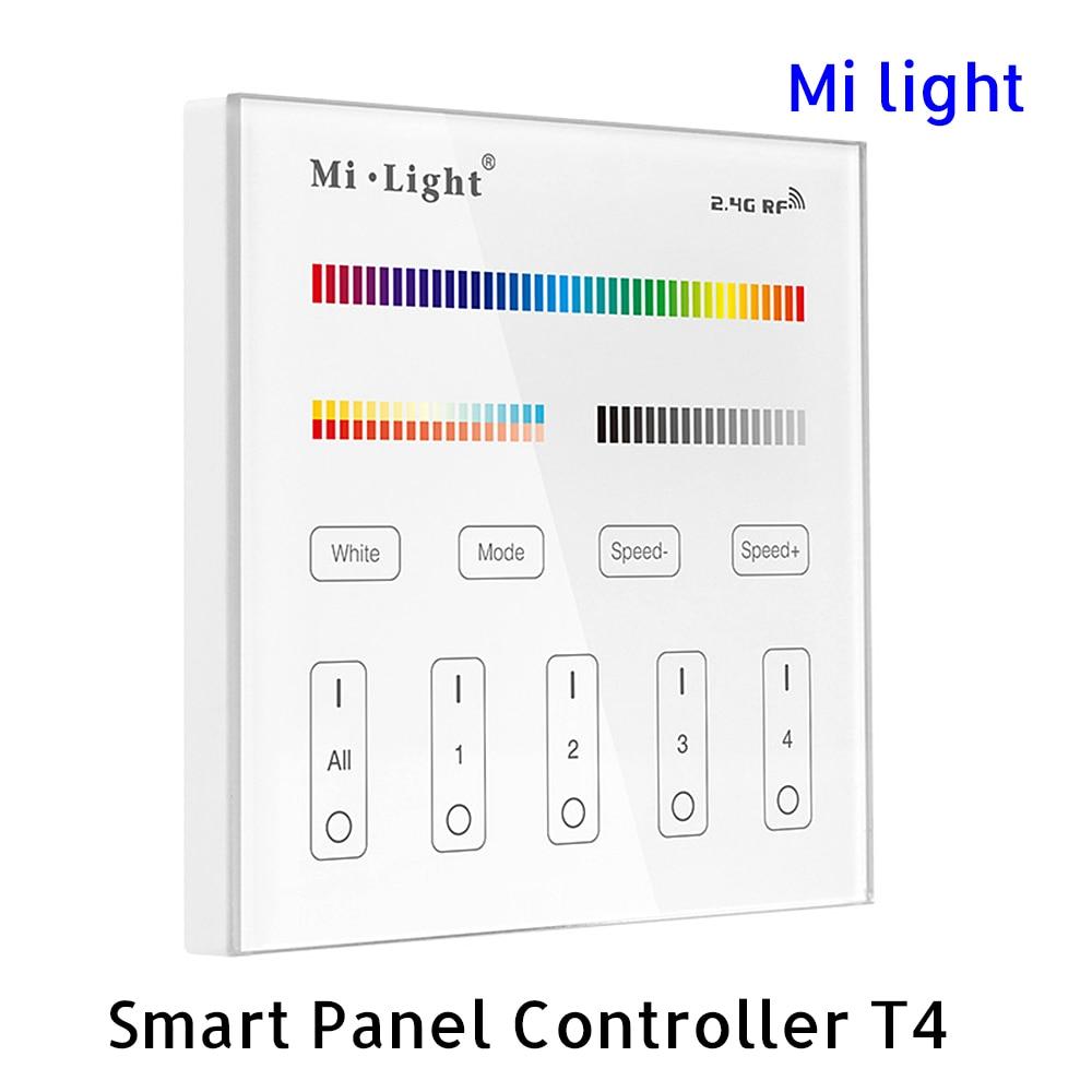BSOD LED fjärrkontroll T4 Milight RF2.4G WirelessTouch 4 zoner RGB CCT 16 Milion färger Justerbar ljusstyrka