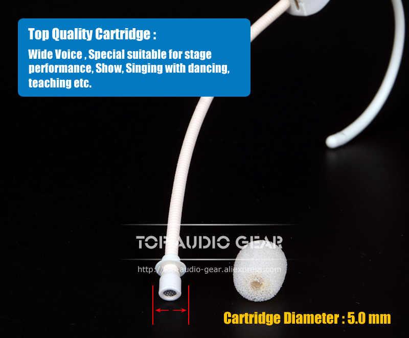 2 шт./партия, бежевая гарнитура, конденсаторный микрофон, головной микрофон для Sennheiser, беспроводная система 3,5 мм, винтовой разъем Mikrofon