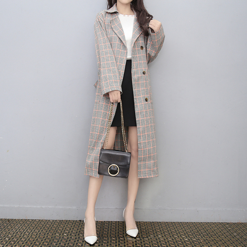 La Outwear Kaki Coupe 4xl De Manteaux vent Pour Imperméable Femmes Longue Taille Casaco Tranchée Femme Plaid Plus Vent Manteau MpSzUGqV