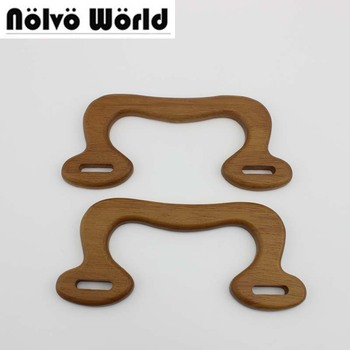 20 pairs=40 pieces,17X7.5cm Solid Wood camel color DIY bags handbags popular M shape handle,ladies crochet purse wood handles