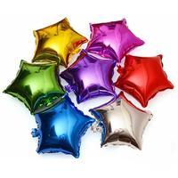 送料無料新しい50ピース/ロット五角形アルミ風船誕生日パーティーの装飾風船のおもちゃ卸