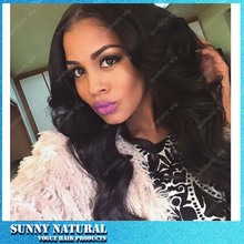 Synthetic Lace Front Wig Natural Wave Heat Resistant Glueless Black Color Lace Front Synthetic Hair Wigs for Black Women