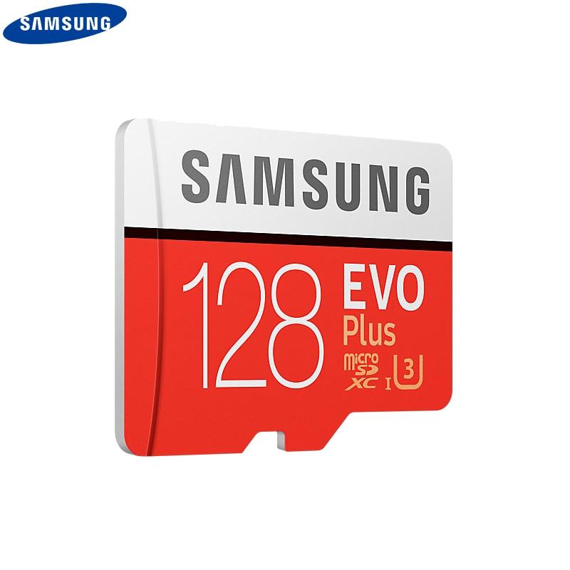 סמסונג 100% מקורי TF מיקרו SD כרטיס זיכרון כרטיס MicroSD EVO בתוספת Class 10 כיתה 3 32 GB 64 GB 128 GB Smartphone Tablet מצלמה