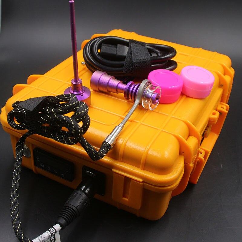 ENAIL E kit pour ongles cire stylo électrique d ongle quartz TI dom moins PID dab boîte silicone tapis pour tuyaux d'eau en verre