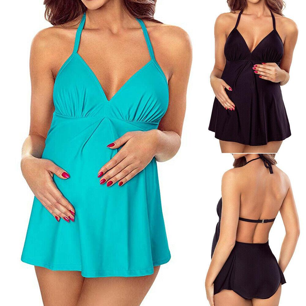 Biquíni feminino grávida, roupa de banho, moda praia, verão