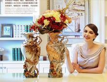 Vintage European living room resins, decorative flower vase, design and decoration of vase