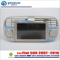 YESSUN Car Android Multimedia Radio CD DVD Player For Fiat 500 2007~2016 GPS Navi Map Navigation Audio Video Stereo HD Screen