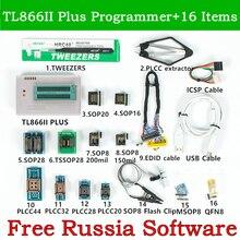 XGecu adaptador Universal V10.22 TL866II Plus PROGRAMADOR USB + 16 adaptadores + Cable EDID + Clip de IC SOP8 TL866, programador Flash EPROM