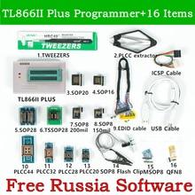 Xgecu Originele V10.22 TL866II Plus Universele Usb Programmer + 16 Adapter + Edid Kabel + SOP8 Ic Clip TL866 Flash eprom Programmeur