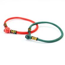 2018 Pop Creative Women Lucky Bracelets Bead Red String Ceramic bracelets &bangles Men Handmade Accessories Lovers Jewelry