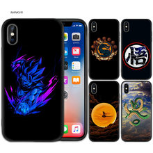 Black Rubber Soft Silicone Case Bag Cover for iPhone XS XR X 7 8 6 6S 5C 5E 5S 5 Plus Max Shell Fundas DRAGON BALL Z Super Kakar(China)