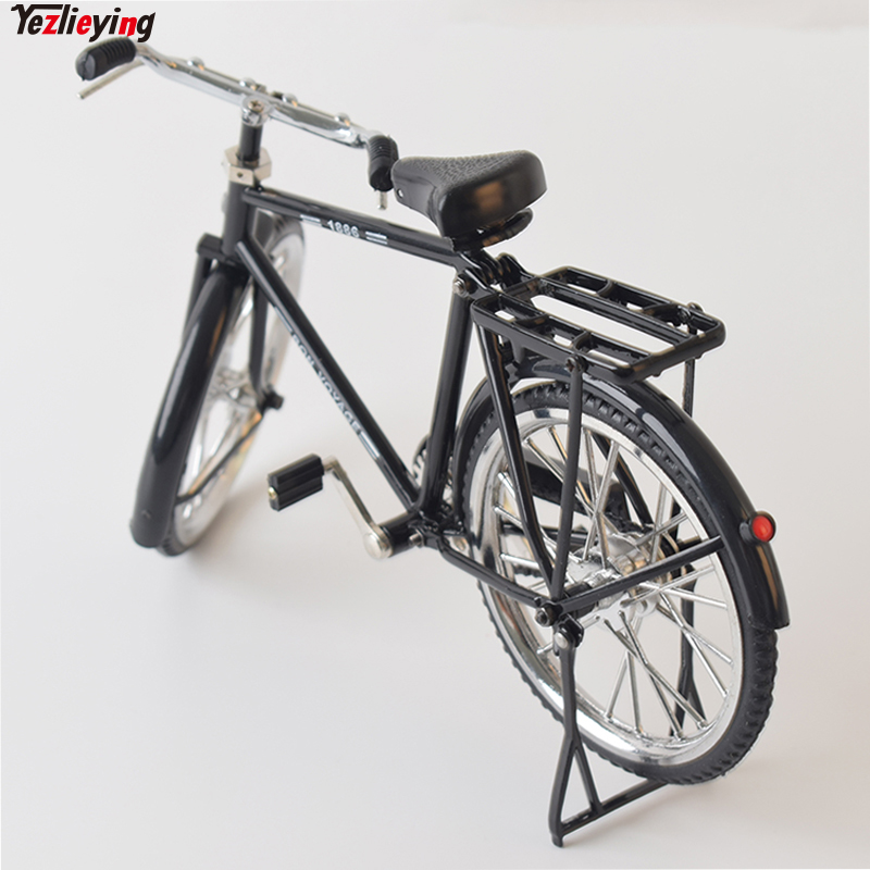 Mini 1/6 Scale Scene Accessories Black B Bike/Bicycle Model Wheel Movable For 12 Phicen Action Toys Figure Doll