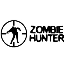 15.9cm*6.8cm Fashion ZOMBIE HUNTER Cross Hair Walking Dead Decal Car Sticker Vinyl 15 7 7 7cm funny family on board the walking dead zombie automobile vinyl car window sticker decal fashion decor