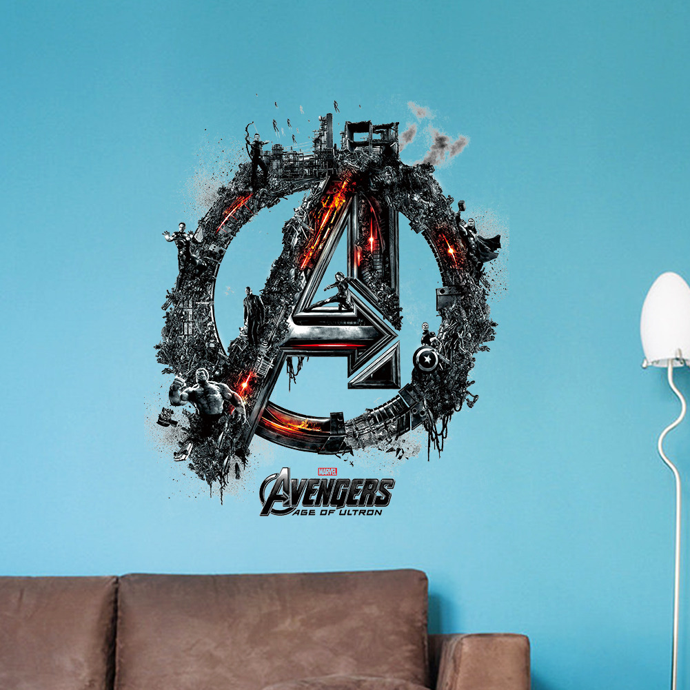HTB1kxvlMVXXXXcSaXXXq6xXFXXX4 - Avengers Iron Man Thor Hulk Mural Wall Sticker For Kids Room