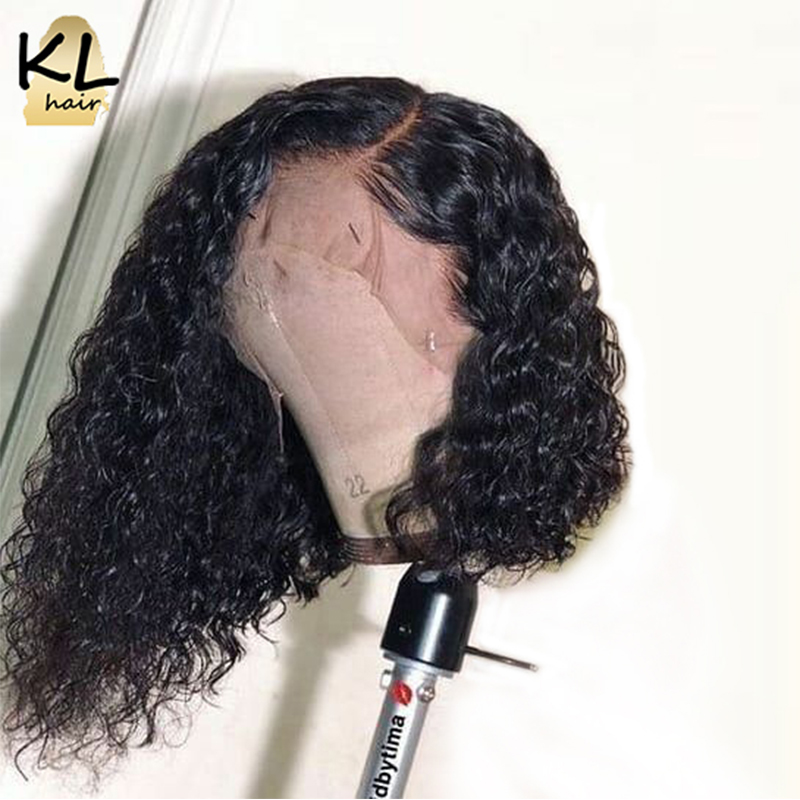 13 6 Deep Part Lace Front Human Hair Wigs For Black Women 150 Density Curly Brazilian