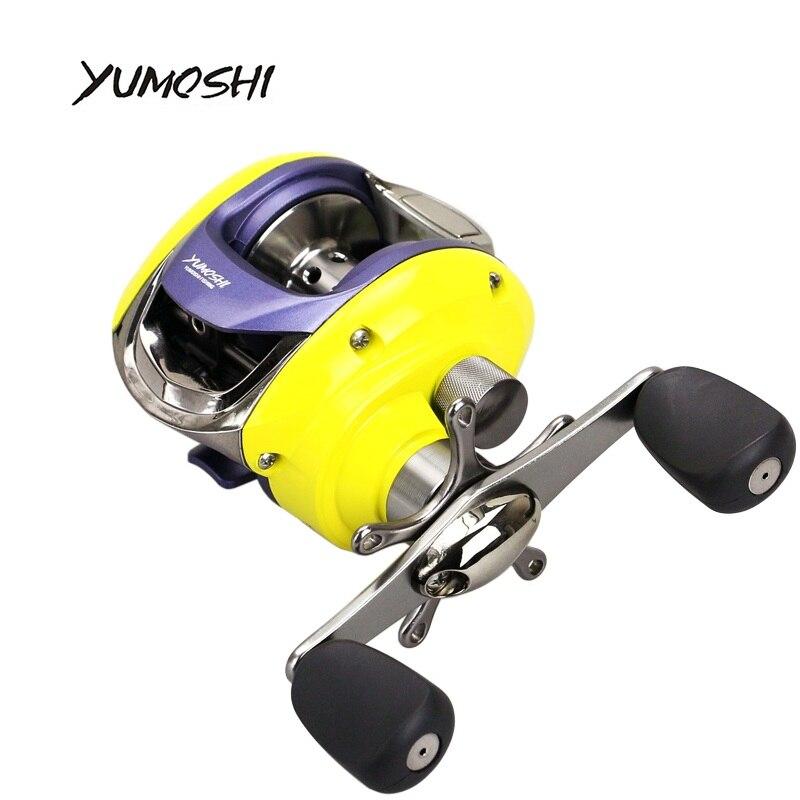 YUMOSHI 2017 NEW Right or Left Baitcasting Reel 12+1BB 6.3:1 Bait Casting Fishing Reel