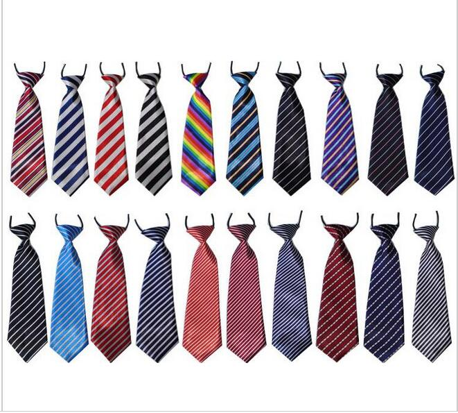 120PC Large Dog Neckties Stripes Dot Grid  Dog ties Elastic band Big Dogs Ties  Bowties Large Dog grooming Supplies