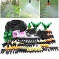 MUCIAKIE 50 M 30 M Irrigazione a goccia Irrigazione del Giardino Nebbia Kit con 4 Tipi di Nebulizzazione Regolabile Ugello di Spruzzo Barb tee Connettori