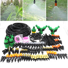 MUCIAKIE 50M 30M Drip Irrigation Garden Watering Mist Kits with 4 Types of Misting Adjustable Nozzle Spray Barb Tee Connectors(China)