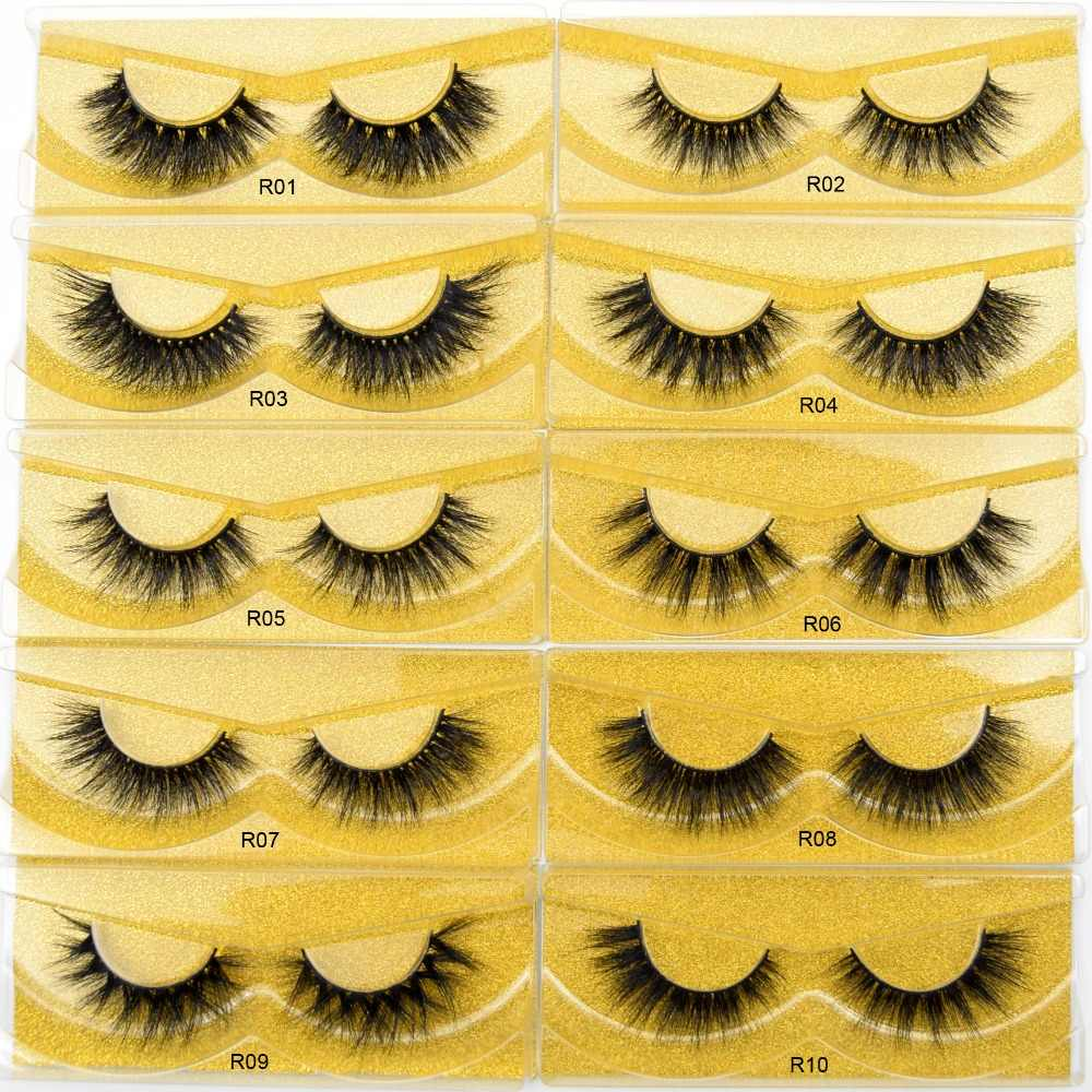 Оптовая продажа Бесплатная доставка DHL 100 пар норковые ресницы Fluttery Накладные ресницы Многоразовые 3D норковые ресницы полные полосы ресницы для макияжа