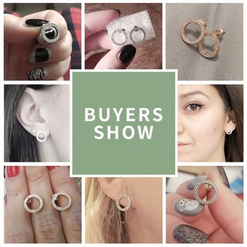 Clear Forever Circle Earrings2