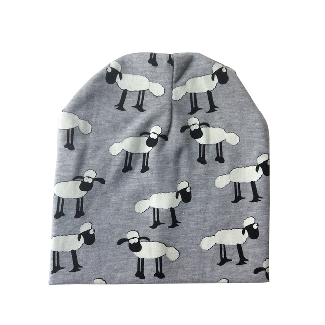 Cotton Winter Caps for Babies with Cute Patterns