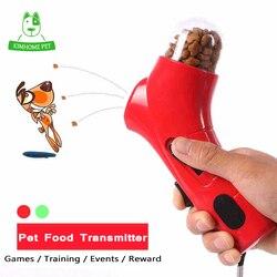 3 cores animais de estimação comida transmissor catapulta jogos treinamento recompensa ao ar livre brinquedos interativos treinamento do cão para o brinquedo do cão