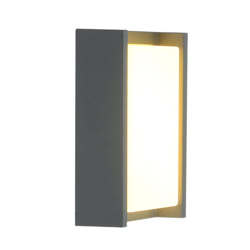 Creative aluminium art wall sconces modern led outdoor wall mounted lights countyard balcony villa lumiere exterieur fence bra in Outdoor Wall Lamps from Lights Lighting