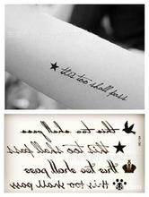 Body Art Waterproof Temporary Tattoos For Men And Women Fashion 3d English Letter Design Small Tattoo Sticker HC1134